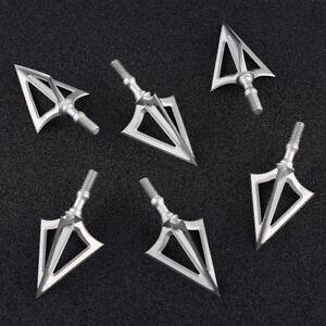 6-x-100-Grain-Broadheads-Arrowhead-Tips-Archery-Arrow-Tactical-Bow-Hunting-Game