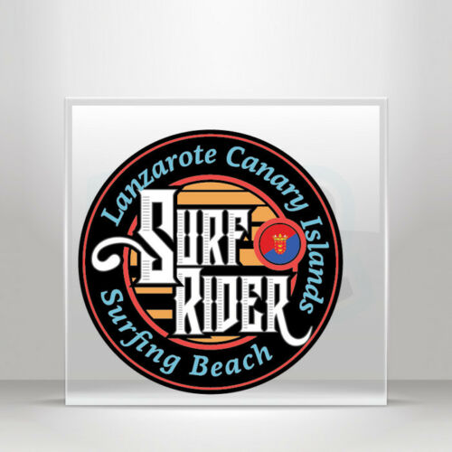 Sticker Decals travel Surf Lanzarote Canaty Islands beac A19 3ZZ88