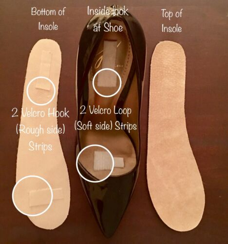 WOMEN/'S INSOLES The ONLY REAL SUEDE LEATHER insole available for ALL DRESS SHOES
