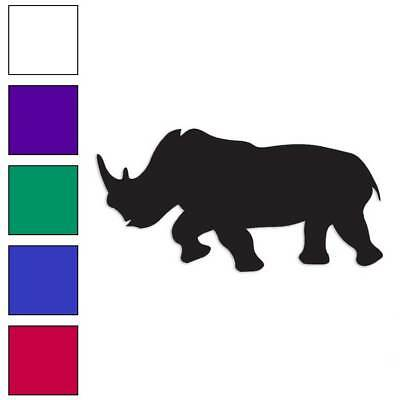 Rhino rinocerontes Decal Sticker ELIGE COLOR tamaño #1372