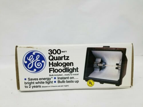 NOS GE General Electric 300 Watt Quartz Halogen Security Floodlight Lamp