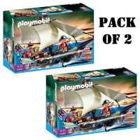 Pack Of (2) Playmobil 5140 Redcoat Battle Ship pirates On The Horizon 4-10 on Sale