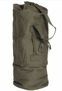 Image is loading NATO-army-surplus-large-green-canvas-sea-sack- 230dd1390e2