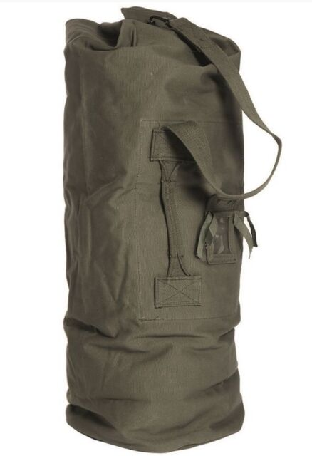 Large Green Canvas Sea Sack Duffle Bag
