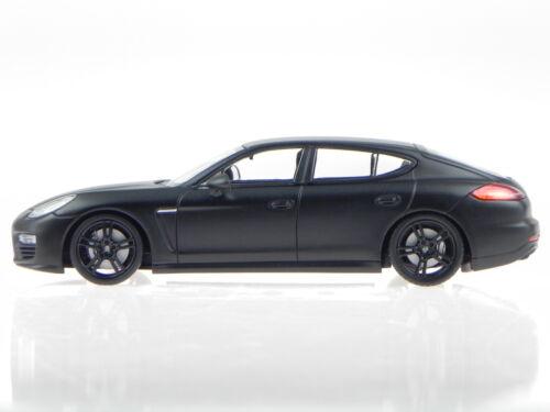 Porsche Panamera Turbo S 2013 matt schwarz Modellauto Maxichamps 1:43