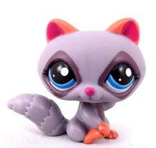 Littlest Pet Shop LPS Raccoon Purple Pink Ears Blue Dot Eyes #1730