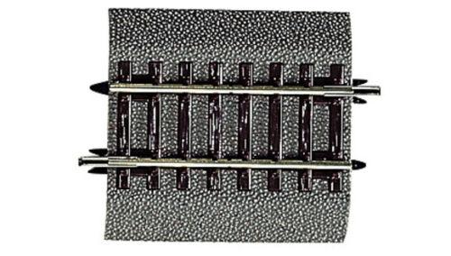 42513 Roco  Binario dritto G 1 quarto mm 57,5 con massicciata e trav in legno