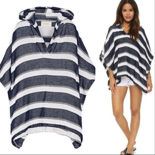 Solid & Striped OS Blue White Striped Oversized Ho