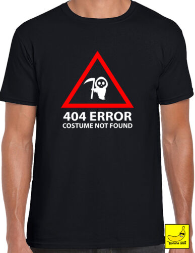 Costume Not Found Novelty Halloween T-Shirt Ghost Scary Computing Geek Funny Tee
