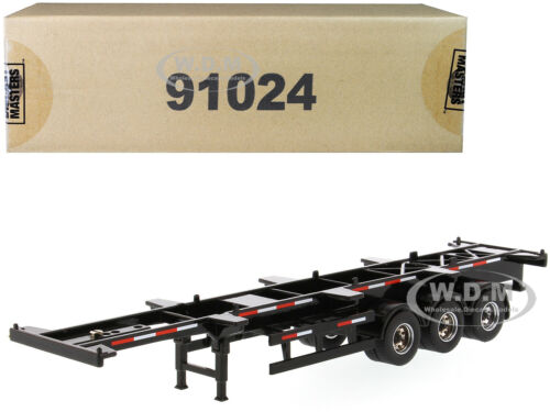 40/' SKELETON TRAILER BLACK 1//50 DIECAST MODEL BY DIECAST MASTERS 91024