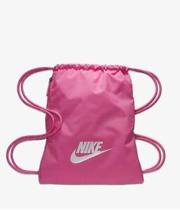 Contrapartida Encarnar musical  Gymsack Backpack Nike Heritage Gymsack 2.0 BA5901 610 pink | eBay