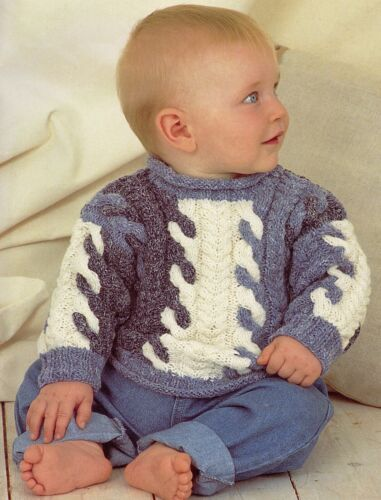 Tejer patrón-Bebé//Niño Niña//niño dk Jumper 2 Diseños 7 Tamaños 0M-8Y PO465