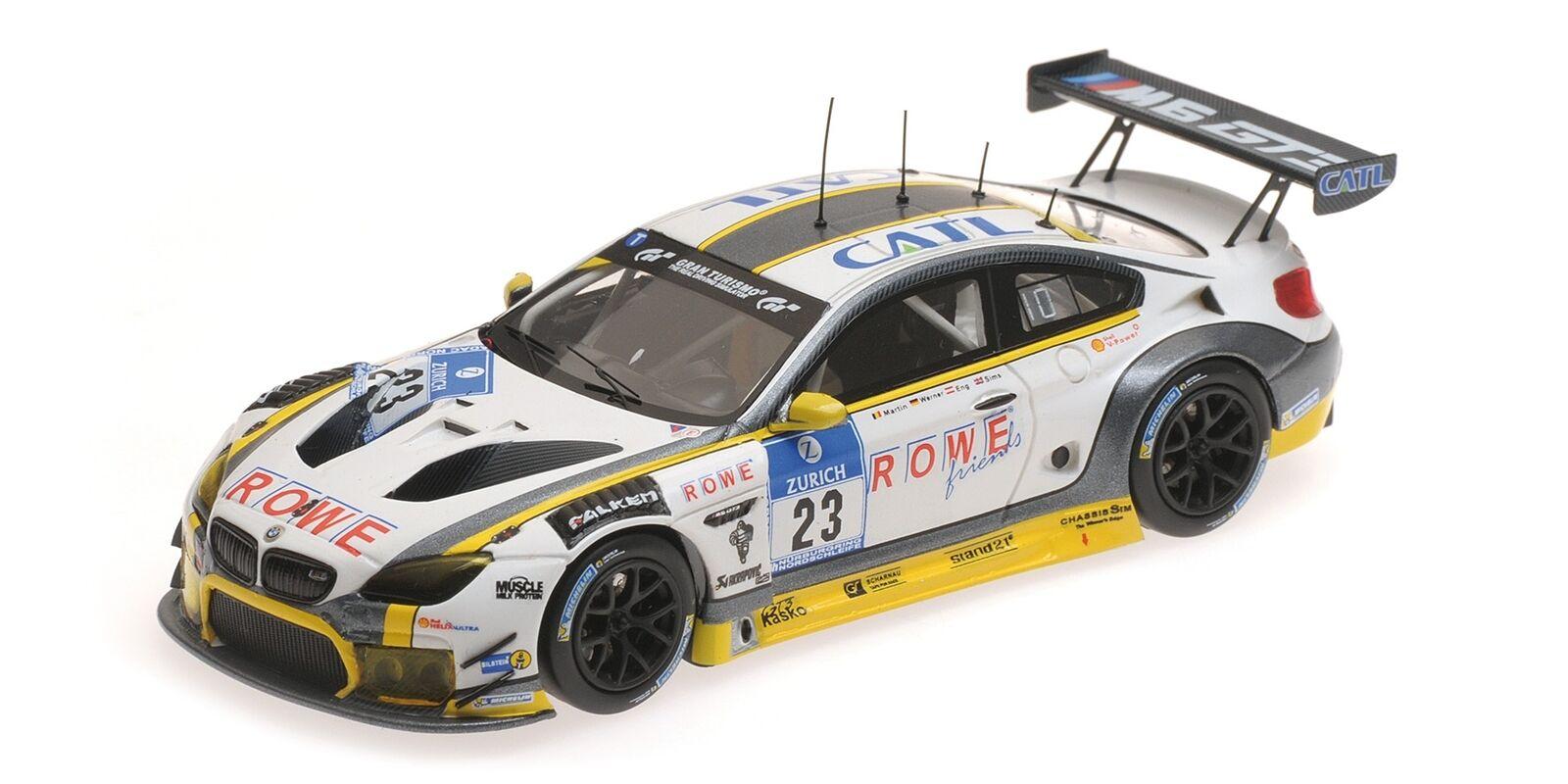 Bmw M6 Gt3 Sims Eng Martin Werner 24H Nurburgring 2016 MINICHAMPS 1 43 437162623