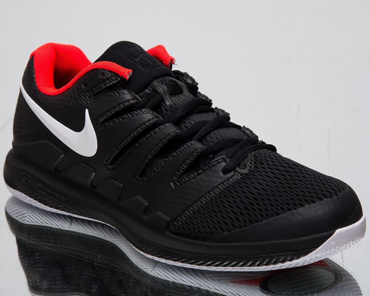 Nike AIR ZOOM VAPOR X HC Uomo Nuovo Nero Bianco Scarpe Da Ginnastica Scarpe Da Tennis AA8030-016