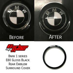 BMW-E87-E81-Gloss-Black-Rear-Badge-Ring-cover-1-series-2004-11-boot-tailgate