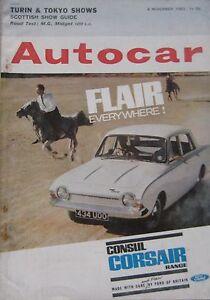 Autocar-magazine-8-November-1963-featuring-MG-Midget-MkII-road-test