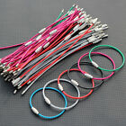Colorful Stainless Steel Wire Keychains Cable Screw Clasp Key Ring 15.5cm 6
