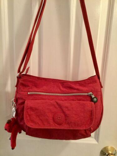 Vintage KIPLING Kringle Red Madalyn Crossbody Shou