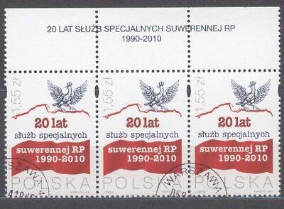"2) Polen 2010 "" 20 Lat Służb Specjalnych "" Mi.nr: ? Randstücke Gest. ( 5334 ) Top Wassermelonen"