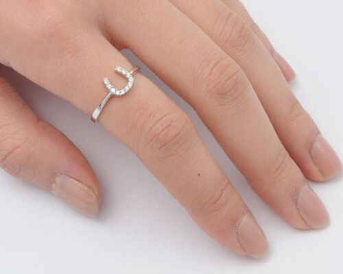 USA Seller Horseshoe Ring Sterling Silver 925 Best Price Jewelry Gift Selectable