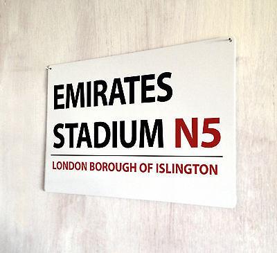 Arsenal FC Retro Metal signo calle Highbury estadio de fútbol