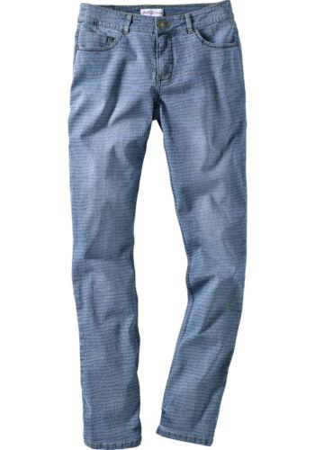 Kp 59,99 € SALE/%/%/% NUOVO!! Blue Denim printed Sheego Denim appena Stretch-Jeans