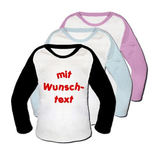 Baseball Baby T-Shirt mit Text NEU Schwarz 86