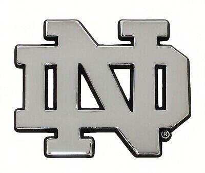 Notre Dame Gold ND METAL Auto Emblem AMG