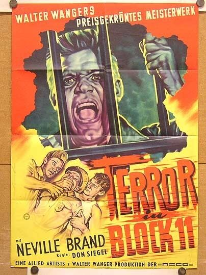 TERROR IN BLOCK 11 (Plakat '54) - NEVILLE BRAND / DON SIEGEL