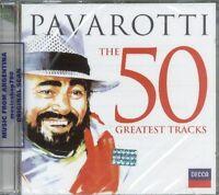 LUCIANO PAVAROTTI THE 50 GREATEST TRACKS SEALED 2 CD SET NEW 2013 GREATEST HITS