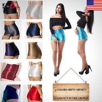 Hot Pants Shiny Disco Club High Waisted  Apparel Sexy Womens Ladies Mini Shorts