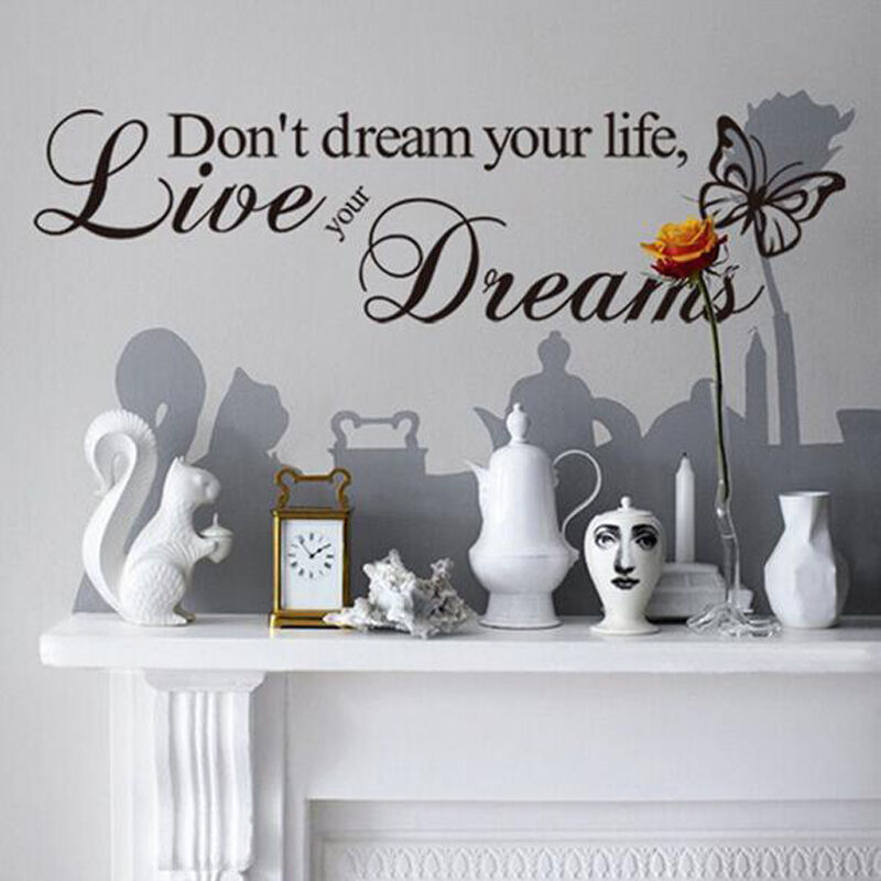 Removable Quote Amazing Word Vinyl Wall Sticker Paper Living Room Decal Decor BM