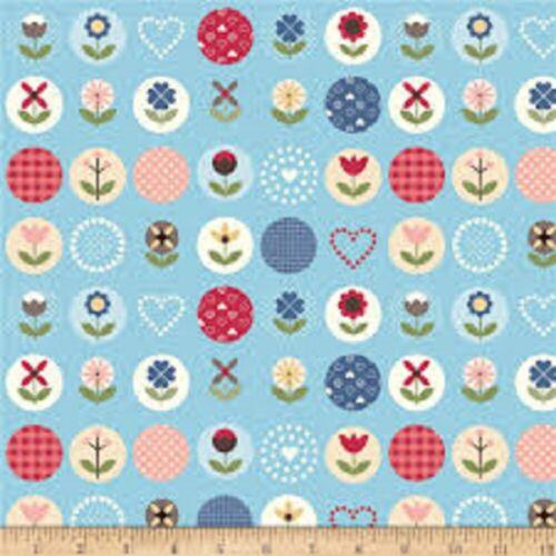 Blue Main Floral-Riley Blake-C7830 Fabric-Gretel