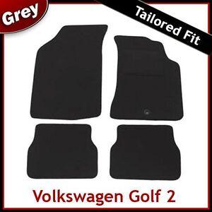 Volkswagen-VW-Golf-Mk2-1983-1992-Tailored-Carpet-Car-Floor-Mats-GREY