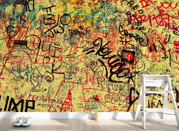3D Graffiti-Alphabet-Wand 74 Tapete Wandgemälde Tapete Tapeten Bild Familie DE