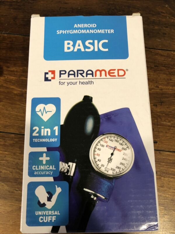 NEW PARAMED ANEROID BASIC SPHYGMOMANOMETER 2 IN 1 TECHNOLOGY CLINICAL ACCURACY