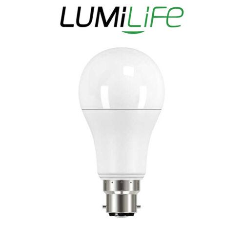 Lumilife 8 W B22 DEL Ampoules GLS Lampe Lumières Cool Chaud Daylight Dimmable Bon état