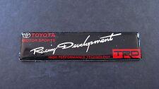 TRD Racing Development Badge JDM T MOTOR SPORT TURBO