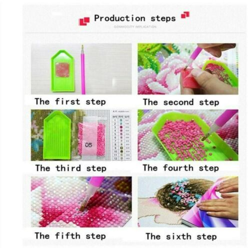 5D Full Drill Diamond Painting Art Craft Pink Chinese Rose Cross Craft Leisure