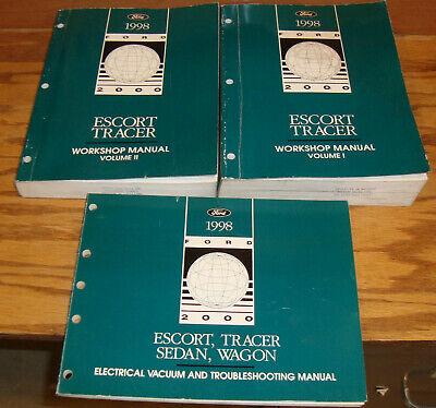 1998 Ford Escort Mercury Tracer Shop Service Manual Vol 1 ...