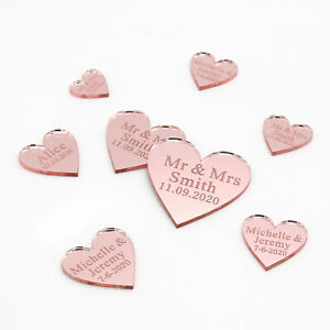 Personalized-Wedding-Mr-amp-Mrs-Rose-gold-Love-Hearts-Party-Table-Decor-Confetti
