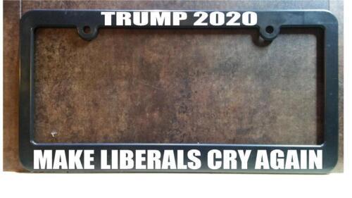 President Trump 2020 abs plastic license plate frame USA usmc usn usaf