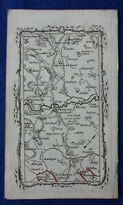 Rare-antique-road-map-SOUTH-YORKSHIRE-DONCASTER-M-Armstrong-1776