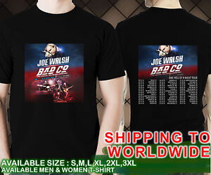 new joe walsh bad co one hell of a night tour dates 2016 black t shirt 01 ebay. Black Bedroom Furniture Sets. Home Design Ideas