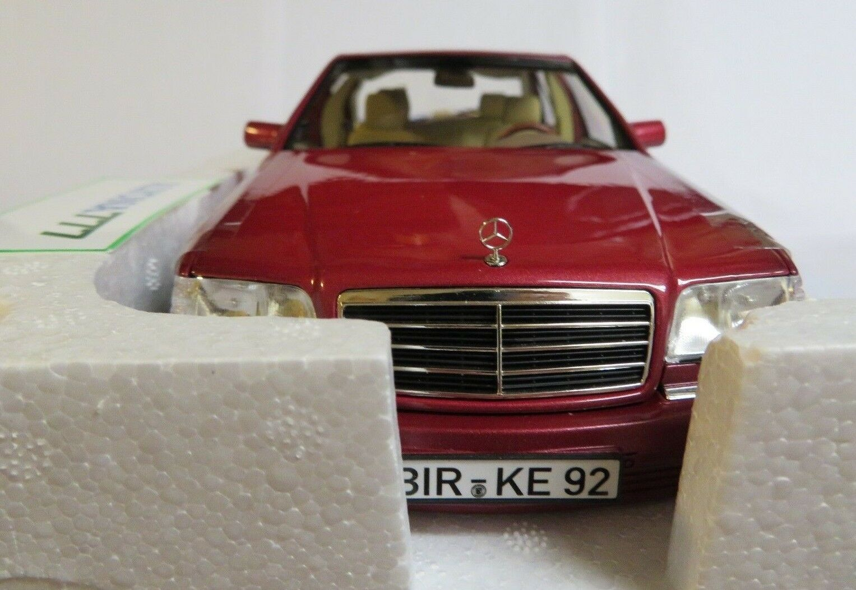 Norev 1   18 mercedes-benz s500 1997 rot metallic - auto - modell 18 neue