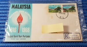 1966-Malaysia-First-Day-Cover-Penang-Free-School-Commemorative-Stamp-Issue