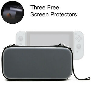 EVA-Hard-Protective-Carrying-Case-Bag-3PCS-Screen-Protector-For-Nintendo-Switch