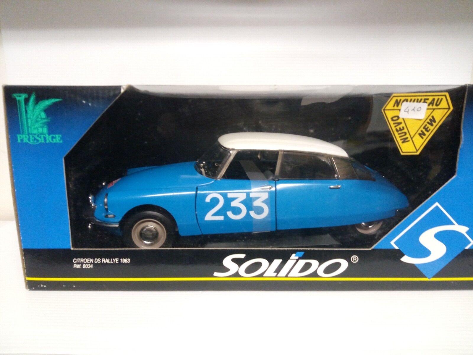 SOLIDO 1/18 CITROEN DS  233 RALLYE MONTECARLO 1963
