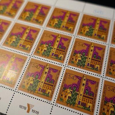Feuille Sheet Israel Briefmarke Nr.705 X15 Y.m.c.a Israel Jerusalem 1978 Neuf Luxe Mnh Starker Widerstand Gegen Hitze Und Starkes Tragen