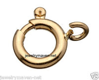 6mm 14k Yellow Gold Spring Ring Clasp Open Jump Ring